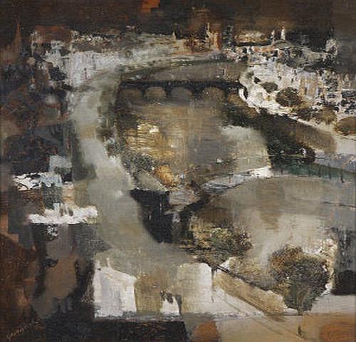 George Campbell RHA (1917-1979) Dublin, Showery