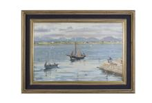 Maurice MacGonigal PRHA (1900-1979)Connemara Hookers (1972)Oil on board, 51 x 76cm (20 x 30'')Signed; also signed, inscribed and dated versoProvenance: With The Dawson Gallery, Dublin, where purchased by Mrs. Donald Caird.