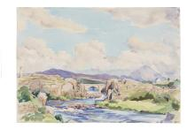 E. Lyn Hope (fl. 1938-1959)Scenes of Mount Errigal, Co. DonegalA collection of three watercolours, 26 x 37cm (10¼ x 14½) and smaller, the largest framedTwo examples signed. (3)