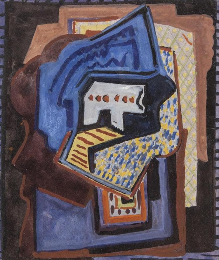 Evie Hone (1894-1955)Abstract Composition (Opus III)Gouache, 21 x 18cm (8¼ x 7'')Provenance: With the Dawson Gallery; later with the Peppercanister Gallery.