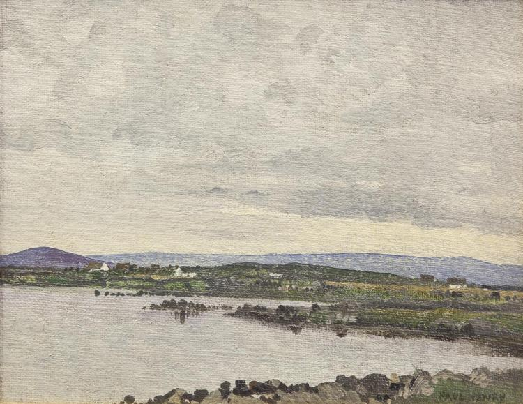 "Paul Henry RHA (1877-1958)Connemara Landscape with CottagesOil on canvas, 30 x 38cm (11¾ x 15'')SignedLiterature: ""Smurfit Art Collection 2001"" Full page illustration P 67Judged stylistically Connemara Landscape with Cottages seems to be a la"