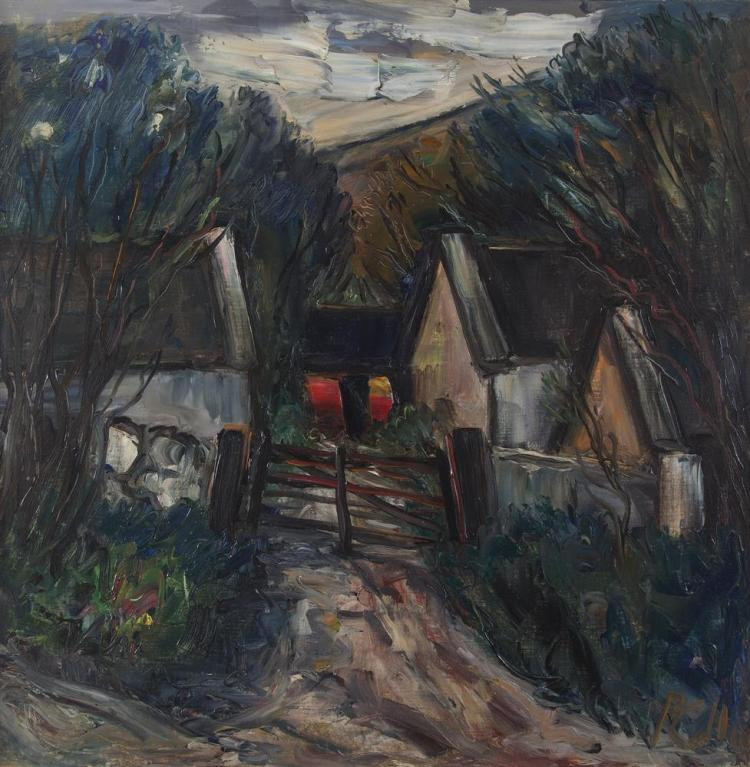 Peter Collis RHA (1929-2012)Old FarmhouseOil on canvas, 59 x 59cm (23¼ x 23¼'')Signed
