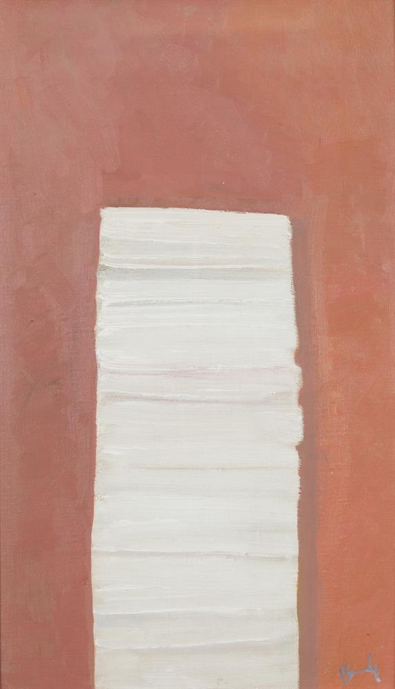 Charles Brady HRHA (1926-1997)Paper Backs (1994)Oil on linen, 49.5 x 29.2cm (19½ x 11½'')SignedProvenance: Grants Fine Art Gallery, Northern Ireland, where purchased by the current owner.