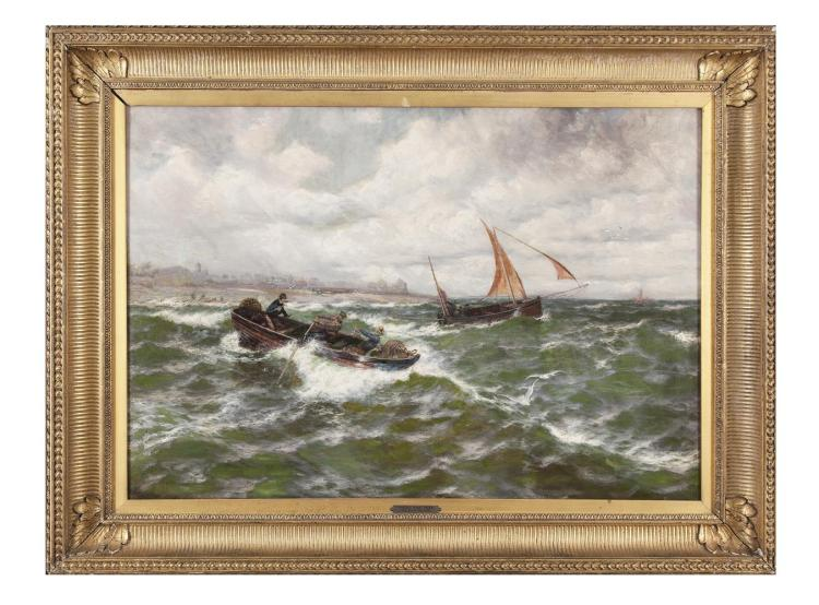 Thomas Rose Miles (1844-1916)Wind OffshoreOil on canvas, 62 x 90.5cm (24½ x 35½'')Signed