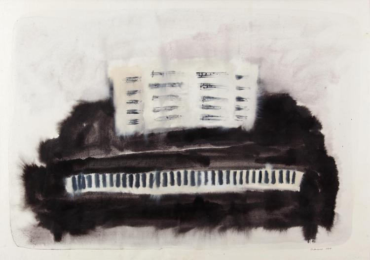 Neil Shawcross RHA RUA (b.1940)Grand PianoWatercolour, 67.5 x 95.5cm (26½ x 37½'')Signed and dated 1984Exhibited: The Gordon Gallery, September 1984.