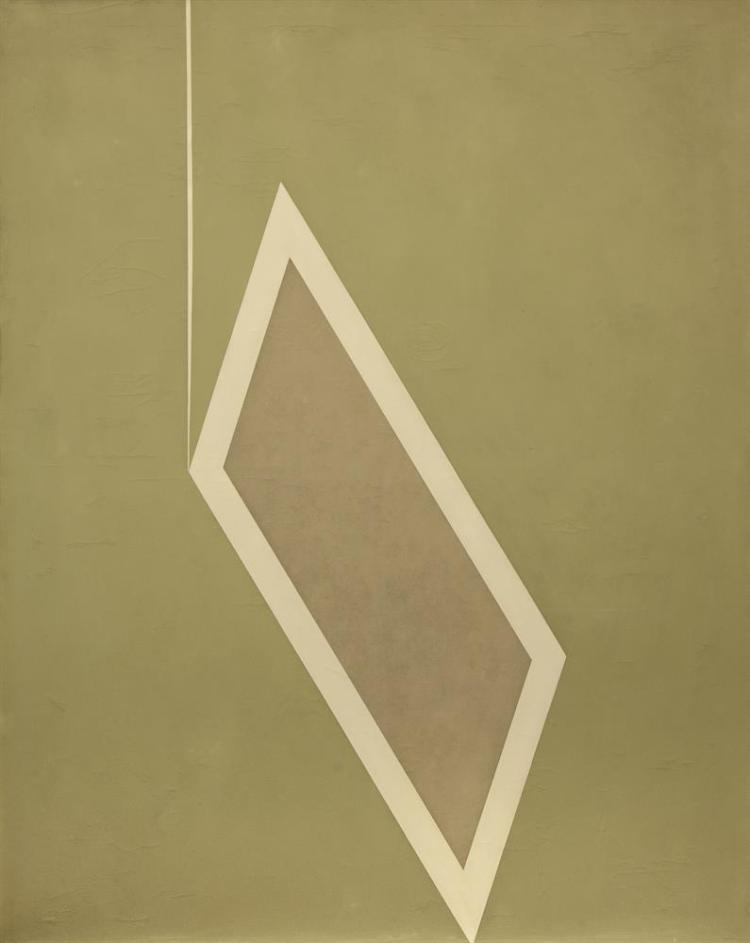 Cecil King (1921-1986)Abstract in Green, Grey and WhiteOil on canvas, 152.5 x 121cm (60 x 47½'')Signed versoProvenance: 'Contemporary and Modern Art' sale, these rooms, June 2007, Catalogue No.45, where purchased by the current owner.