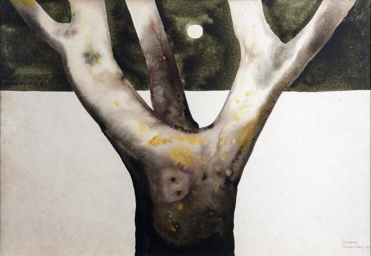 Patrick Hickey HRHA (1927-1998)Sycamore (1969)Watercolour, 51 x 74cm (20 x 29)Signed, dated and inscribed with titleBorn in India Patrick Hickey moved to Ireland in 1948. Predominantly known for his watercolours, etchings and lithographs, he ori