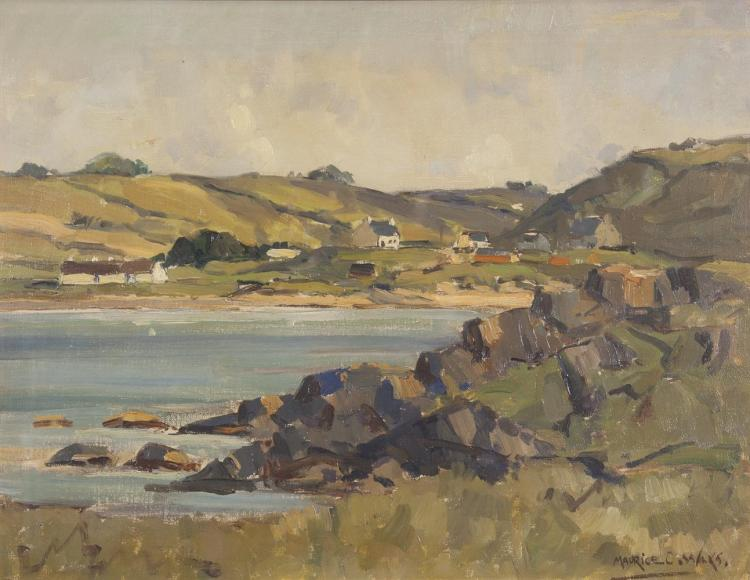 Maurice C. Wilks RUA ARHA (1910-1984)Donegal Coastal LandscapeOil on canvas, 35.5 x 45.5cm (14 x 18'')Signed