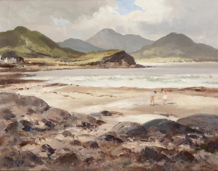 Maurice C. Wilks RUA ARHA (1910-1984)Ballinskelligs Bay, Co. KerryOil on canvas, 35.5 x 44.5cm (14 x 17½'')Signed; inscribed with title verso
