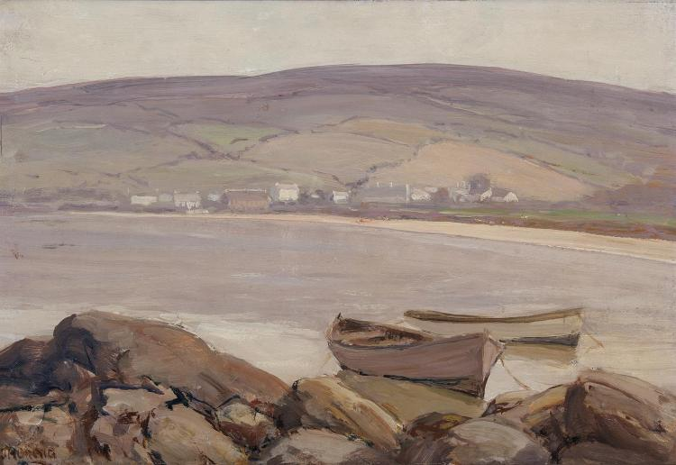James Humbert Craig RHA RUA (1877-1944)CushendunOil on panel, 30 x 43cm (11¾ x 17'')Signed
