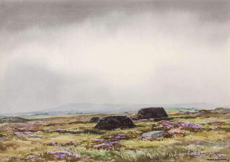 Frank Egginton RCA FIAL (1908-1990)A Bog near Parke, Co. MayoWatercolour, 38 x 54cm (15 x 21¼)Signed