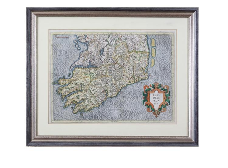 GERARD MERCATOR (1512-1594)A map of the Southern half of IrelandEngraving, 36 x 48cm