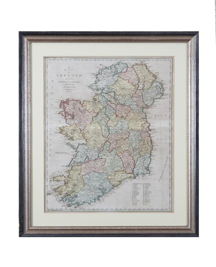 JOHN CAREYA map of Ireland from Camden's BritanniaEngraving, 52 x 43cmAbl 14(i)