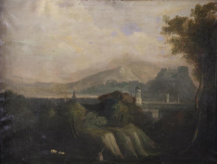 SCOTTISH SCHOOL (19TH CENTURY)View of EdinburghOil on canvas, 72 x 92cm