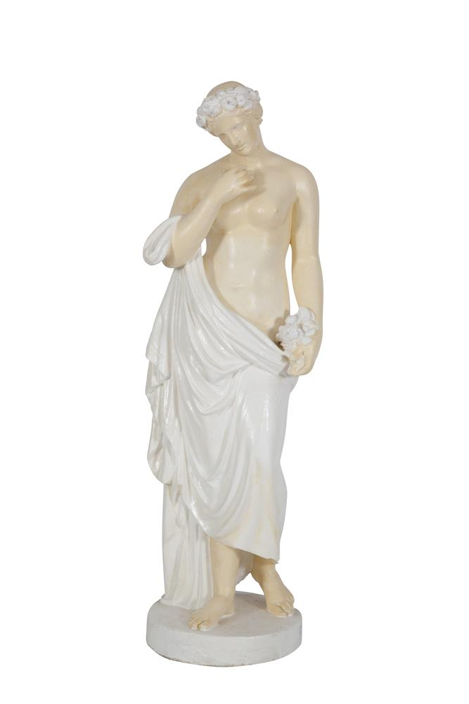 A PLASTER MOULDED STATUE OF VENUS, after the antique. 112cm tall