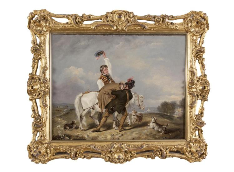 CHARLES HANCOCK (1802-1877)Returning from the FairOil on canvas, 39 x 50cmProvenance: Sotheby's London, 1st July 2004, Lot 161.