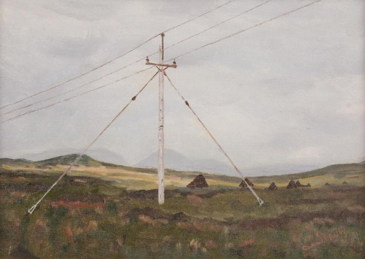 CARMEL KELLY (20TH CENTURY)Power Triangle Near ClifdenOil on board, 24 x 35cmSigned