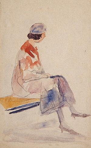 Michael Healy (1874-1941) Dubliners Watercolour, a