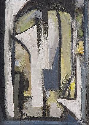 John O'Leary (1929-1999) Abstract Composition Oil