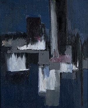 John O'Leary (1929-1999) Blue Composition No. 3