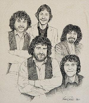 Tom Roche (20th Century) The Fureys Pen and ink,