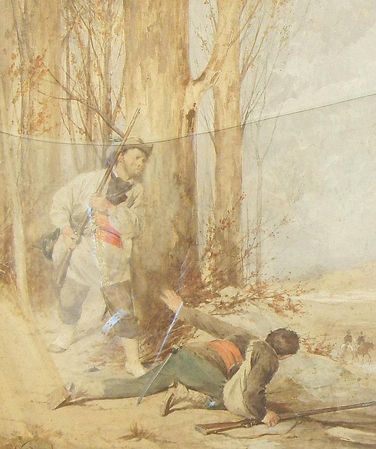 Nicolas Sicard (French, 1840-1920); watercolour