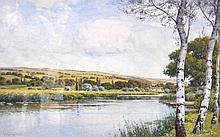 John McDougal; framed and glazed watercolour ''On