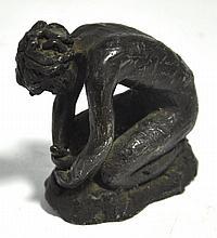 Lenore Boyd (1955-present); a small bronze figure