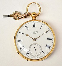 A 19th century 18ct gold open face pocket watch,