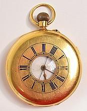 An 18ct gold half hunter pocket watch, the