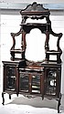 An Edwardian mahogany mirror back sideboard, the