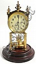 A Gustav Becker anniversary clock, polished brass, Gustav Becker, Click for value