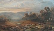 Henry Maplestone (1819-1884), large watercolour,
