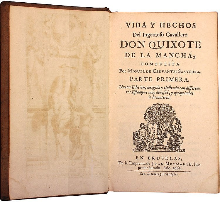First illustrated edition of Don Quixote in Spanish