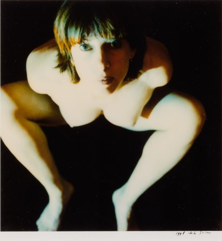 Toto Frima: Self-portrait, a signed and dated Polaroid