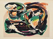 From the fifties: nice lithograph in colours by Karel Appel