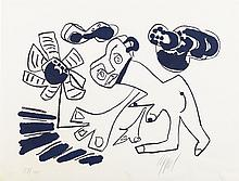 Rare screen print from the Prent 190 series by Karel Appel