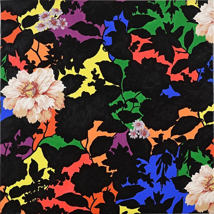 Flowers in paint and print, a typical Arjan van Arendonk