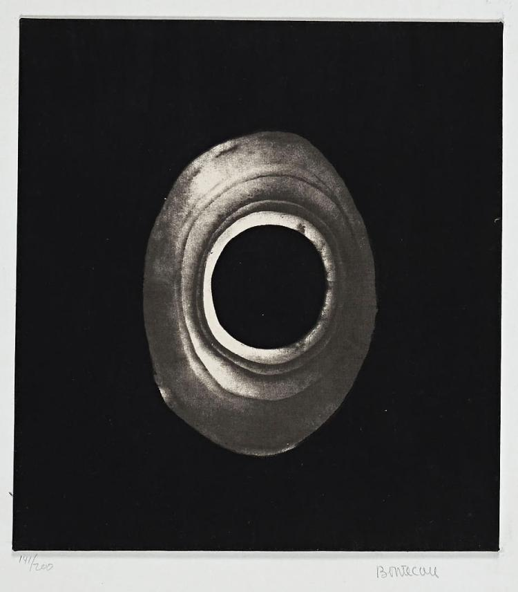 Rare Lee Bontecou screen print on cotton