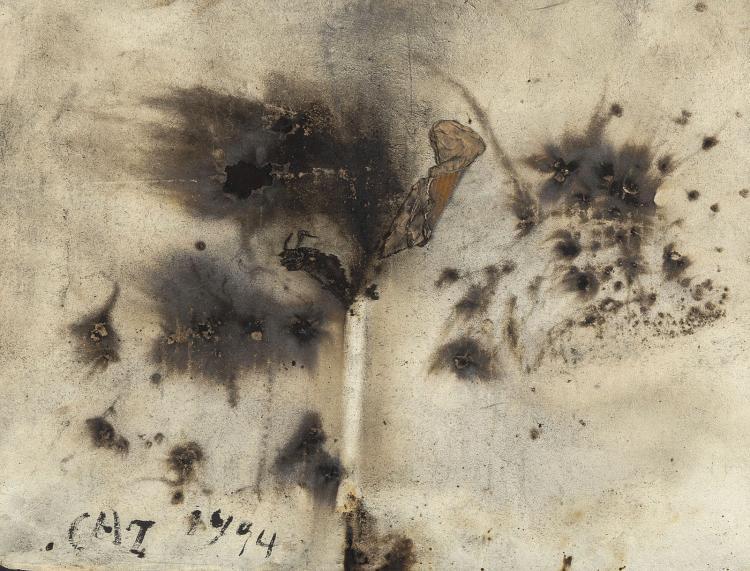 Very strong gunpowder work by Cai Guo-Qiang
