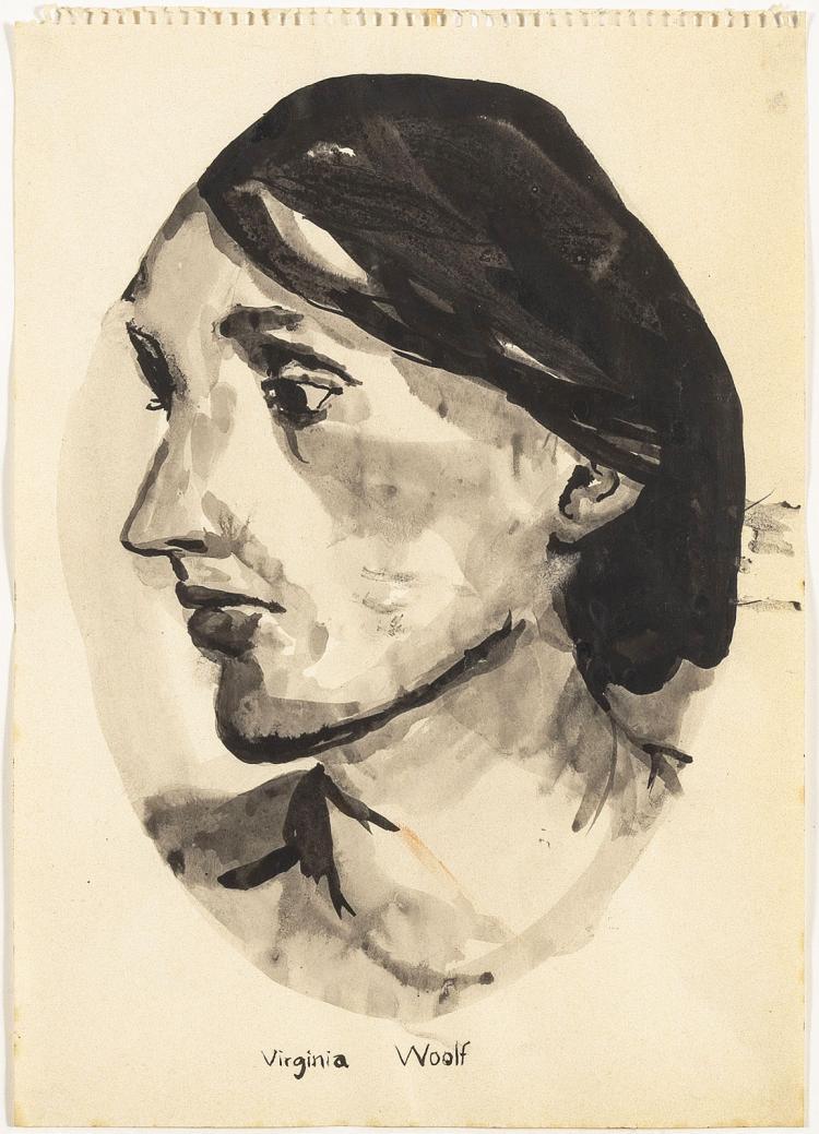 Portrait of Virginia Woolf by Sara van der Heide