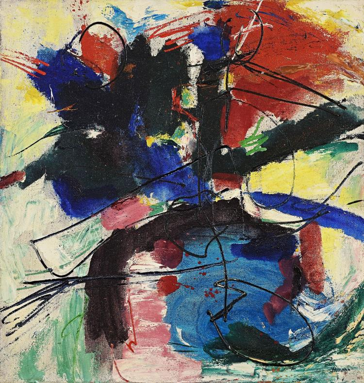 Abstract composition from the sixties by Hans Ittmann