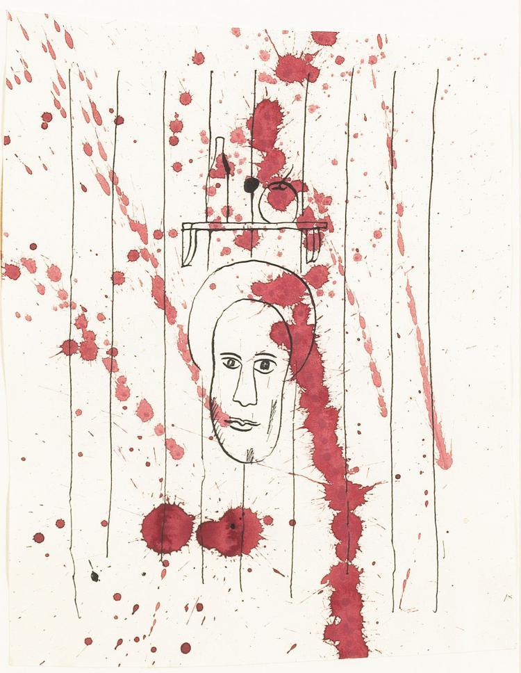 Ink drawing by Hewald Jongenelis