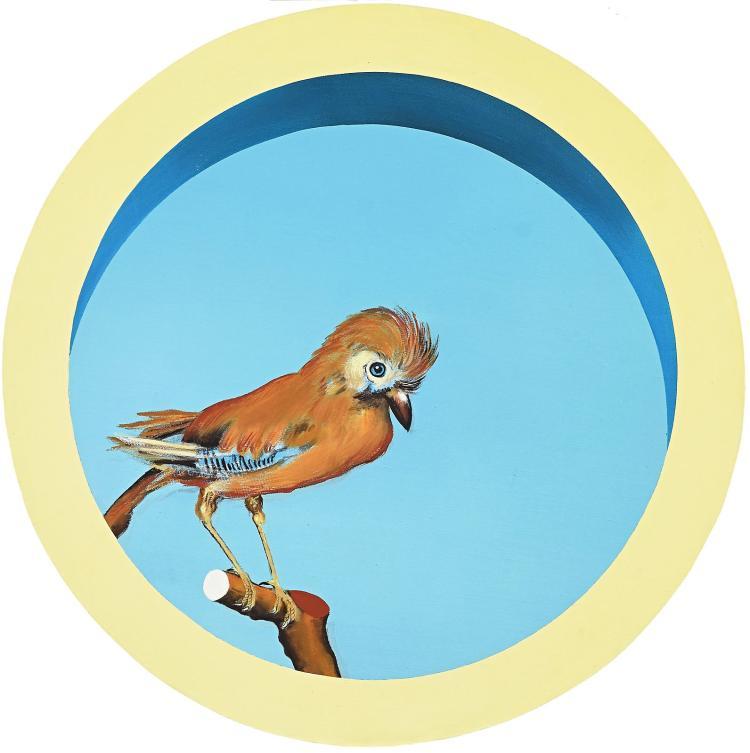 A charming finch by many-sided artist Hewald Jongenelis