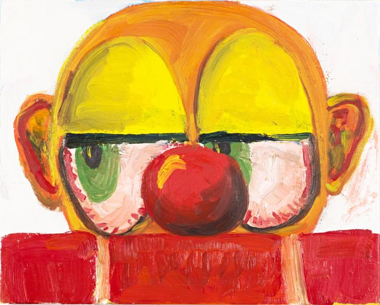 This is not a horror clown, untitled painting by Kevin Knox
