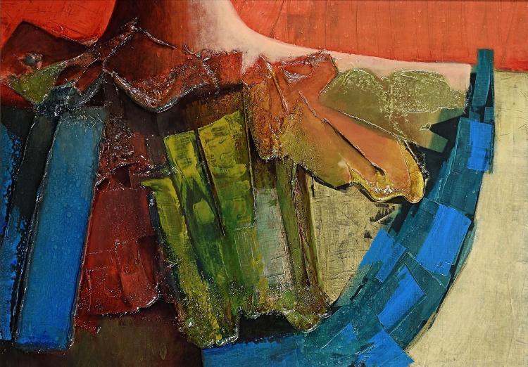 Abundant painting by Hans van der Lek from his palmy days