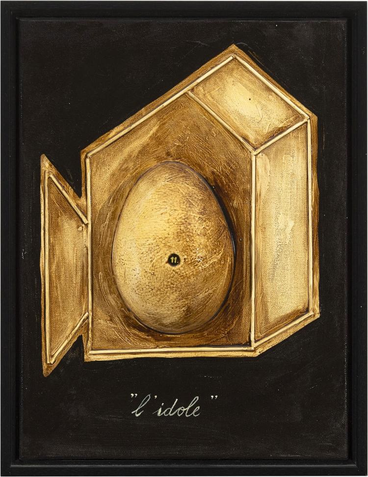 Pretaxidermy: ostrich-egg-centered work by Les Deux Garçons