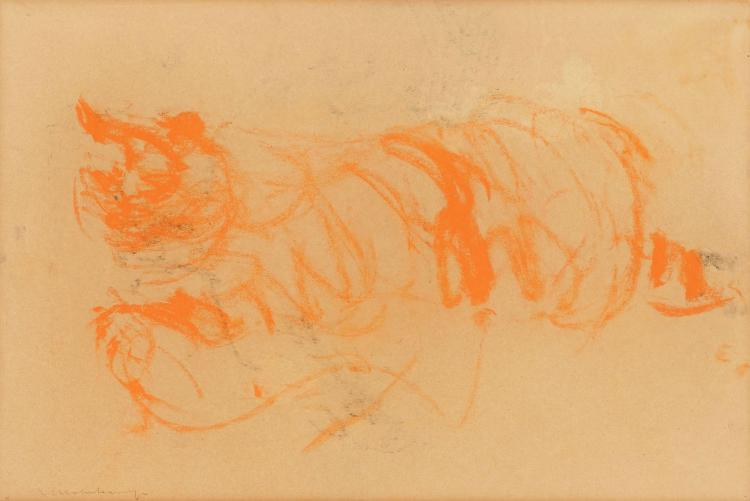 Striking fat red cat by Nico Molenkamp