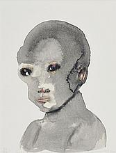 Hand-coloured and signed by Marlene Dumas