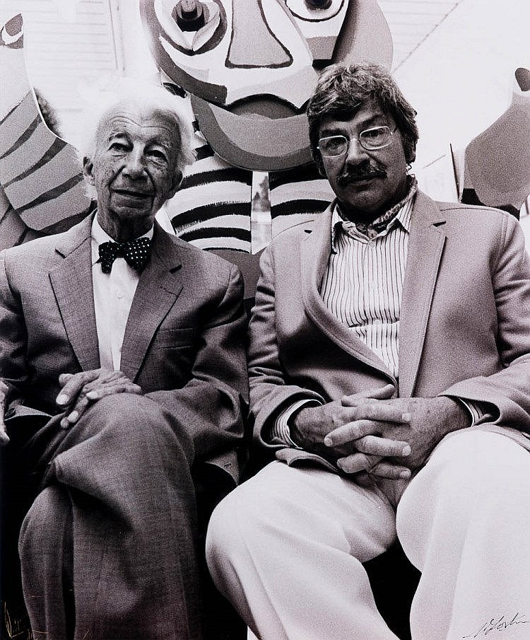 Willem Sandberg and Karel Appel, 1980